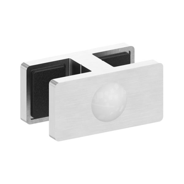 80570-240-20 - nerezový držák skla - přímá spojka 180°, AISI 304, pro tl. 20,76 - 21,52 mm, pro nerezové zábradlí