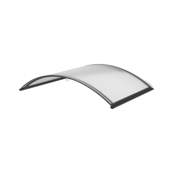 LanitPlast TOPAZ RAL7016 130/70 - vchodová stříška nad dveře, 130x70 cm, antracit