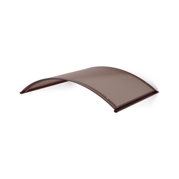 LanitPlast TOPAZ RAL8017 130/70 - vchodová stříška nad dveře, 130x70 cm, hnědá