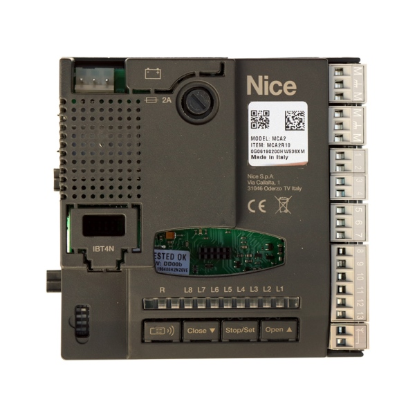 Nice MCA2 R10 - řídicí jednotka pro 24V pohony Nice bez enkodéru, pro křídlové brány