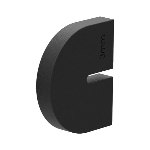 Těsnění do držáku plechu - model 10A, pro tl. plechu 3 mm, pro zábradlí a schodiště