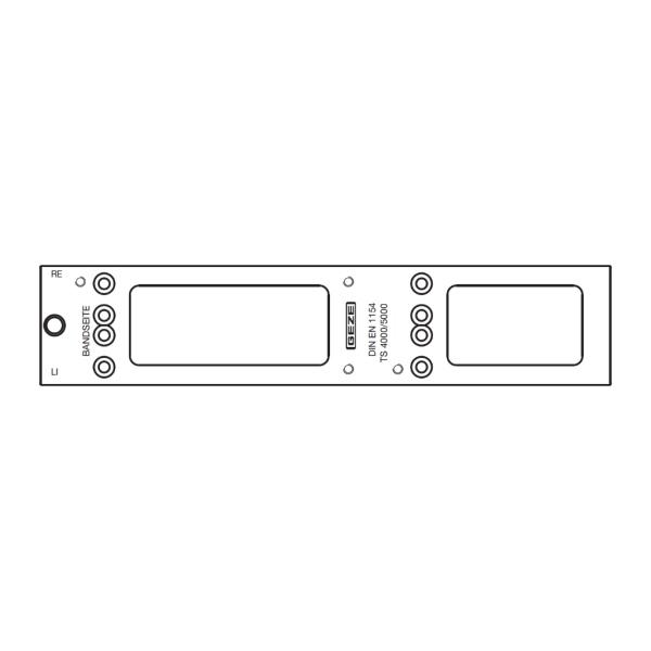 Montážní deska pro zavírače GEZE TS 4000/5000 - stříbrná