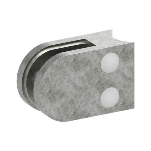1233-ZN0 - ZAMAK držák skla na trubku pr. 33,7 mm - model 12, pro nerezové zábradlí