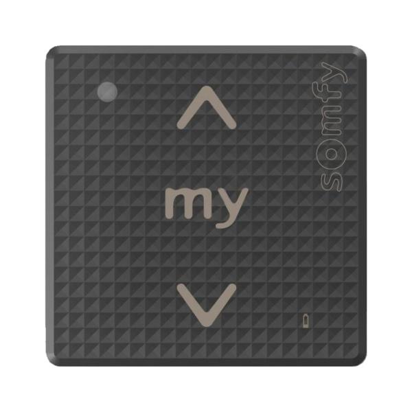 Somfy Smoove Black Shine io – nástěnný jednokanálový dotykový ovladač, bez rámečku