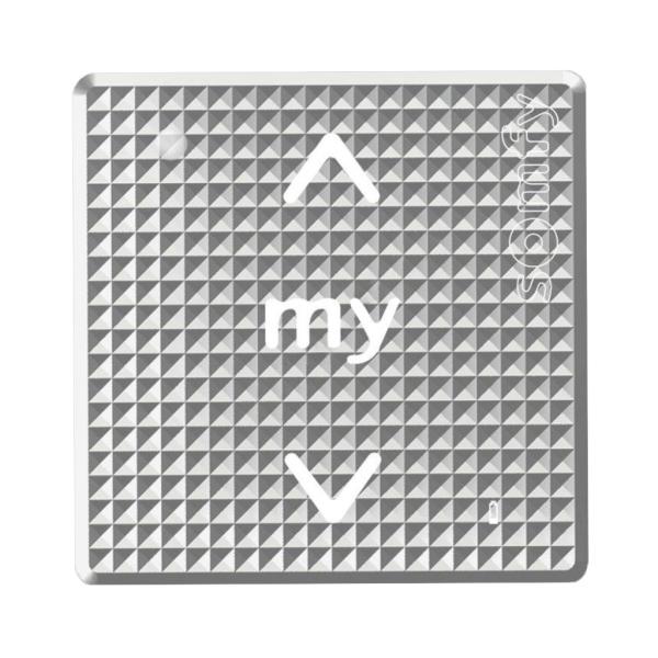 Somfy Smoove Silver Shine io – nástěnný jednokanálový dotykový ovladač, bez rámečku