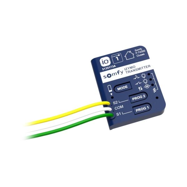 Somfy Izymo Transmitter io – vysílač pro ovládání io přijímačů, montáž do vypínače