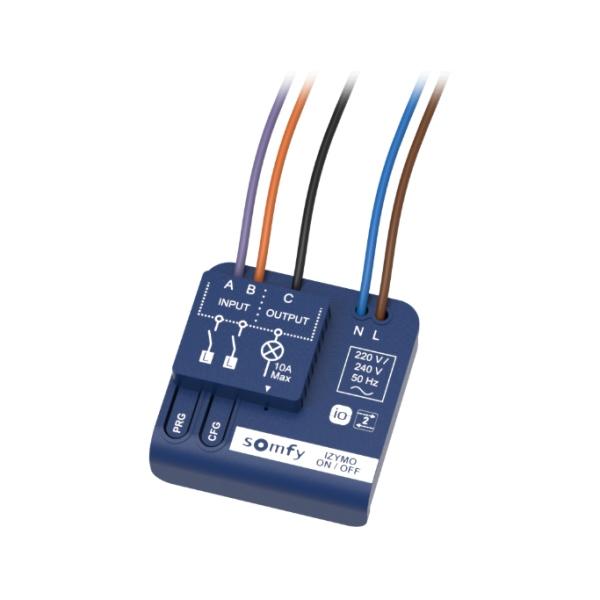 Somfy Izymo ON-OFF receiver io – přijímač pro ovládání osvětlení a el. spotřebičů io vysílači