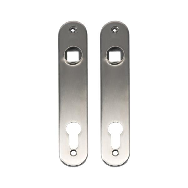 LOCINOX 3020 HYB ALU - hliníkové zámkové štítky s otvorem pro kliku a cylindrickou vložku, pro křídlové branky a dveře
