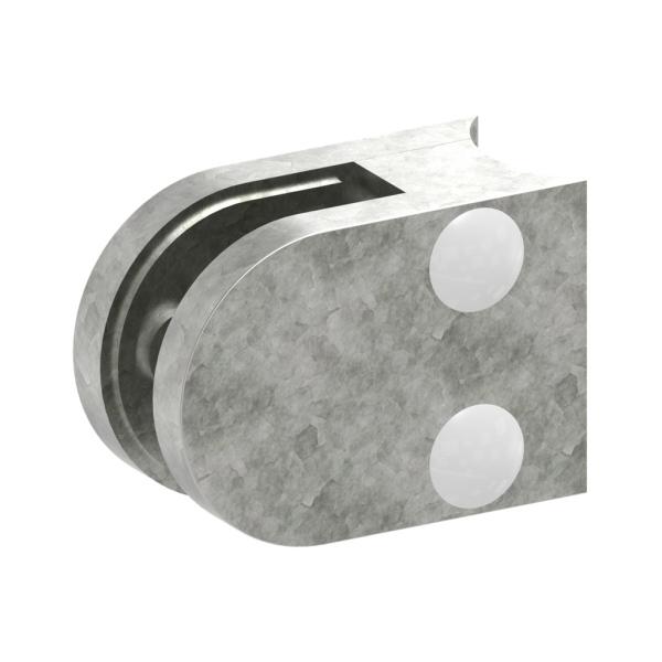 3033-ZN0 - ZAMAK držák skla na trubku pr. 33,7 mm - model 30, pro nerezové zábradlí