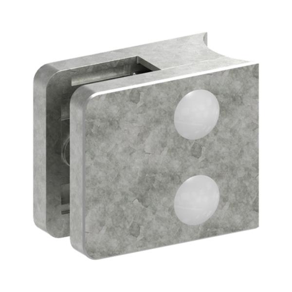 3133-ZN0 - ZAMAK držák skla na trubku pr. 33,7 mm - model 31, pro nerezové zábradlí