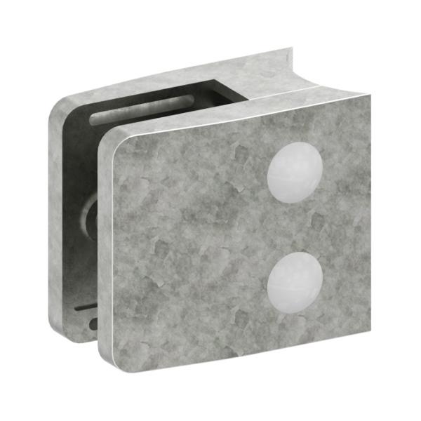 1442-ZN0 - ZAMAK držák skla na trubku pr. 42,4 mm - model 14, pro nerezové zábradlí