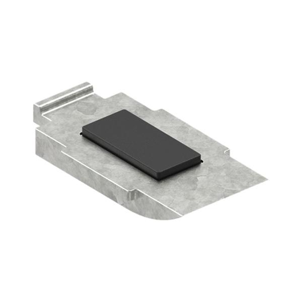 38-Boden-ZN0 - ZAMAK zajišťovací podpěra do držáku skla a plechu - model 38, pro nerezové zábradlí a schodiště