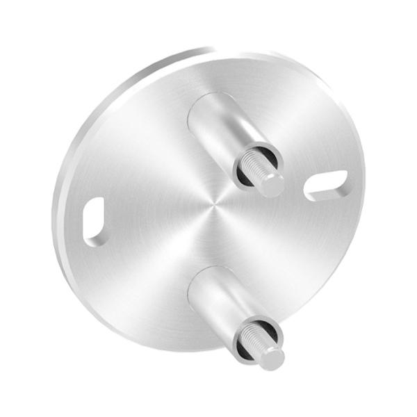 50132-240-M10 - nerezová kotvicí příruba pro trubku pr. 42,4 mm, boční, pro nerezové zábradlí