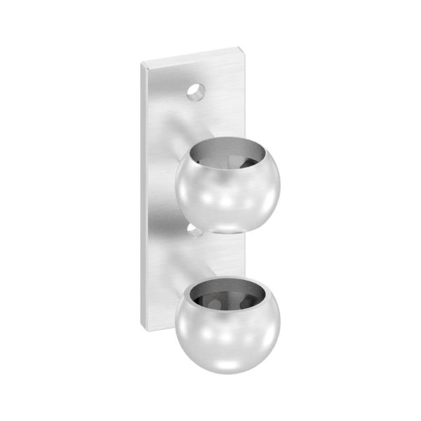 50140-240 - nerezová kotvicí příruba pro trubku pr. 42,4 mm, boční, pro nerezové zábradlí