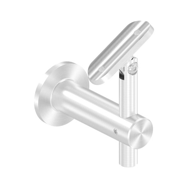 Nerezový držák kulatého madla zábradlí pr.42,4 mm 50363-240 brus, na zeď, flexi