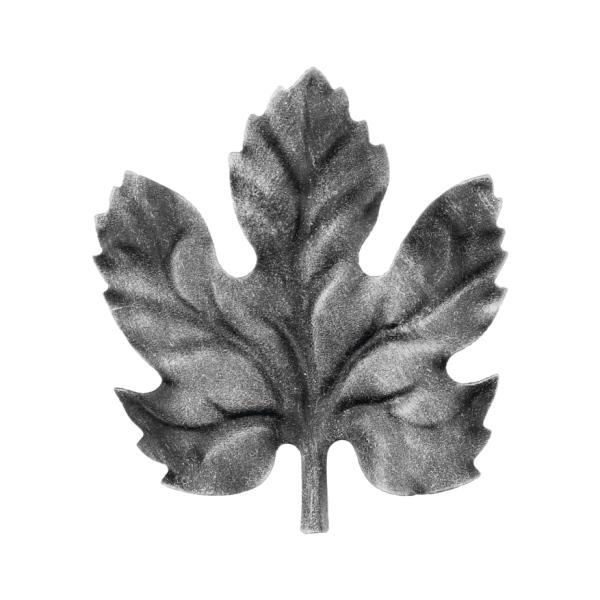 Ozdobný list pro kovaný plot, bránu, zábradlí a mříže 53.012, 105x95 x 1 mm