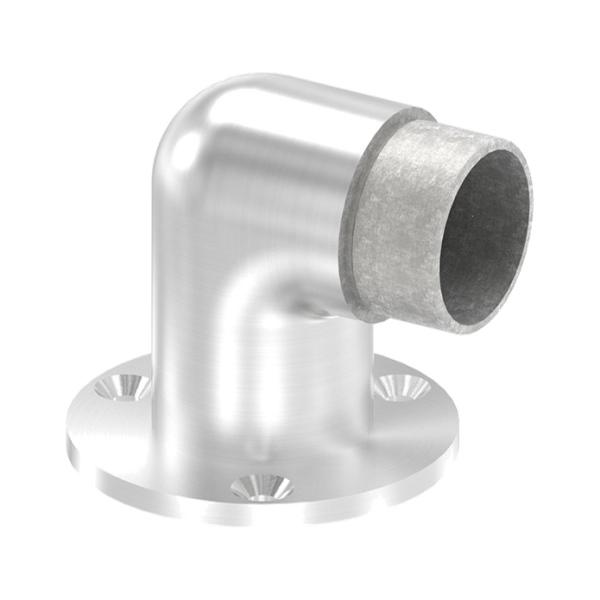 Nerezový držák madla zábradlí pr.42,4 mm 56090-320, krátká kotvící přiruba na zeď, úhel 90°