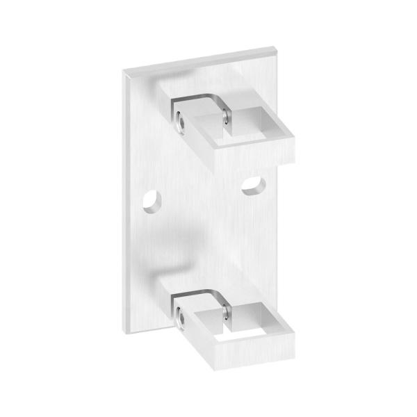 60204-240 - nerezová kotvicí příruba pro jekl pr. 40x40 mm, boční, pro nerezové zábradlí
