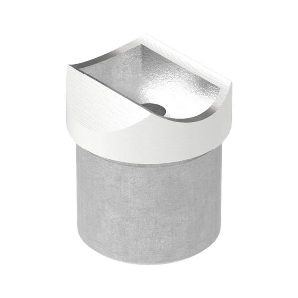 Nerezový držák kulatého madla zábradlí pr.33,7 mm 60210-240 brus, na trubku pr.33,7 mm, krátký
