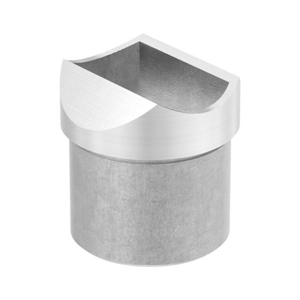 Nerezový držák kulatého madla zábradlí pr.42,4 mm 60211-240 brus, na trubku pr.42,4 mm, krátký