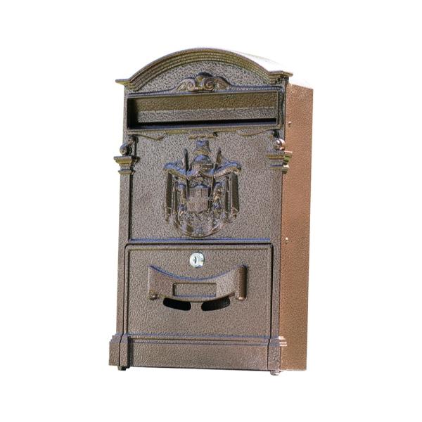 Poštovní schránka 65.202 měděná barva, 410 x 255 x hloubka 90 mm