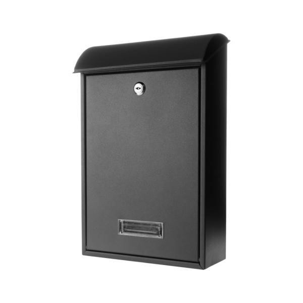 Poštovní schránka 65.259 černá matná, 400 x 275 x hloubka 135 mm