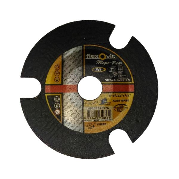 Flexovit Mega-View A 36 T-BF29 - Brusný kotouč na ocel a nerez, pr.125 mm