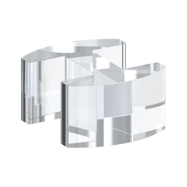 80571-P-20 - plastový držák skla - přímá spojka 180°, pro tl. 20,76 - 21,52 mm, pro nerezové zábradlí