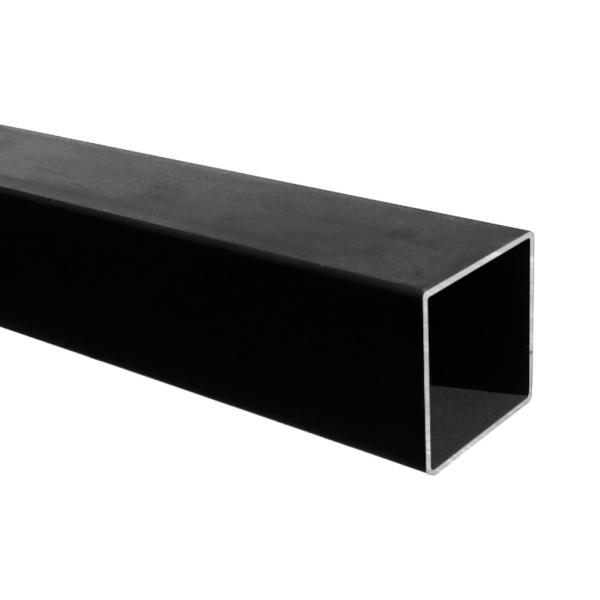 Hladký jekl pr.100x100 x 3 mm uzavřený dutý, bez povrch. úpravy, pro brány a konstrukce, cena za 3m