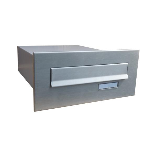 Nerezová poštovní schránka DLS-B-04 pro zazdění do sloupku, přední vhoz a zadní výběr