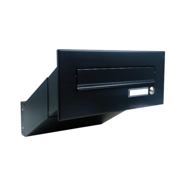 DOLS D-041-Z RAL9005 - poštovní schránka k zazdění, se jmenovkou a zvonkovým tlačítkem, černá