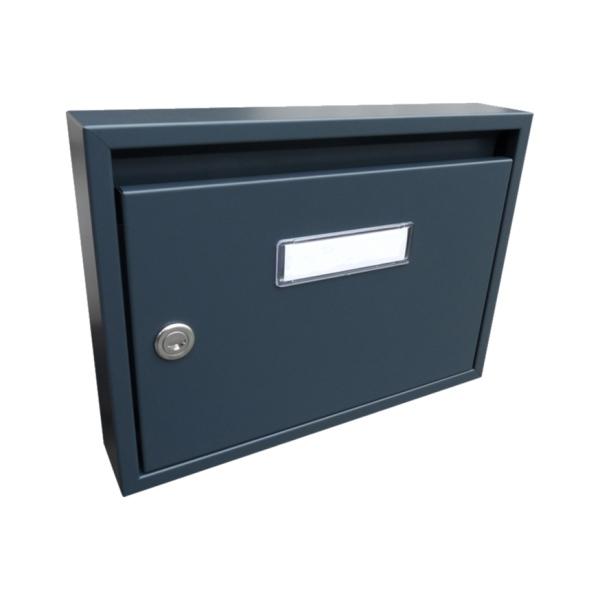 Poštovní schránka DLS-E-01_A, vhoz formát A4, interierové schránky, antracit RAL 7016