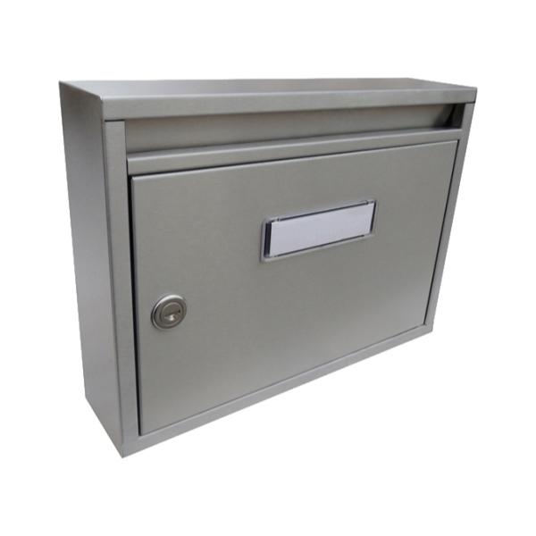 Nerezová poštovní schránka E-011 - Imola s hloubkou 80 mm, pro formát zásilek do A4