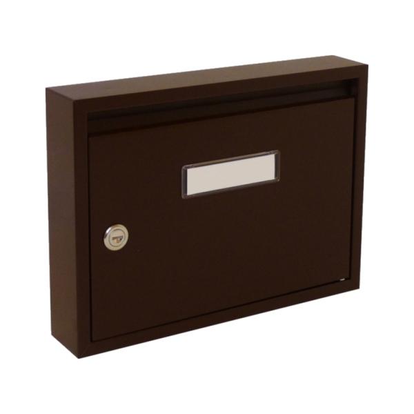 Poštovní schránka DLS-E-01_H, vhoz formát A4, interierové schránky, hnědá RAL 8017