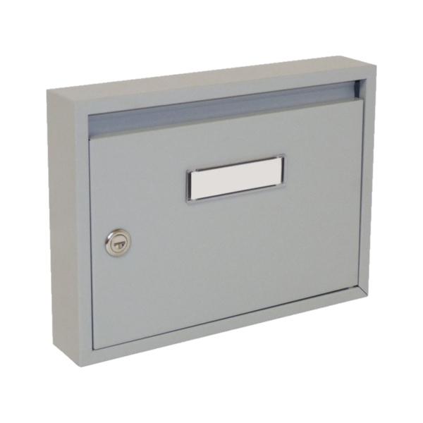Poštovní schránka DLS-E-01_S, vhoz formát A4, interierové schránky, šedá RAL 7040