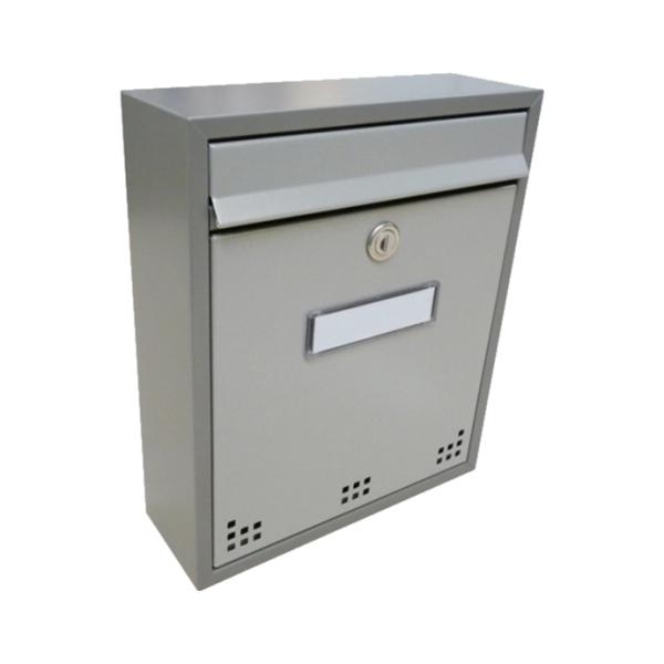 Poštovní schránka DLS-H-011_R-M-S s hliníkovou sklapkou, interiérové schránky, šedá RAL 7040