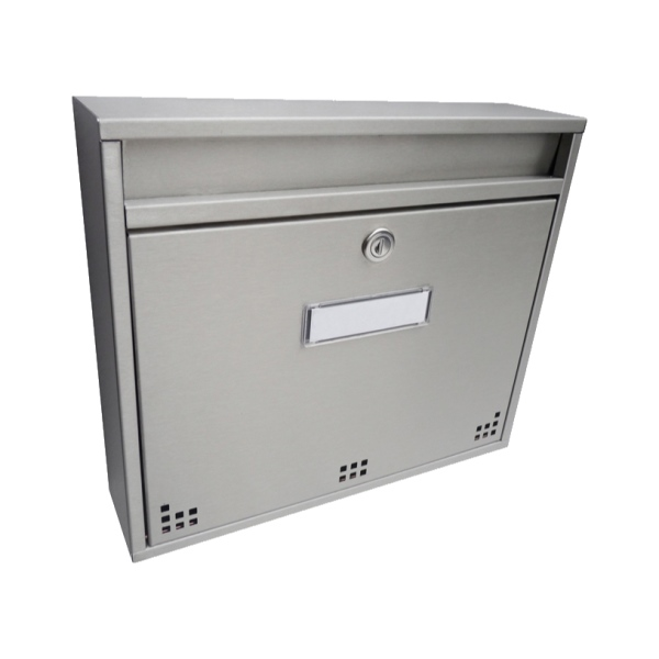 Nerezová poštovní schránka DLS-H-012-R-N, rozměr schránky 360x310x90 mm, vhoz formát A4