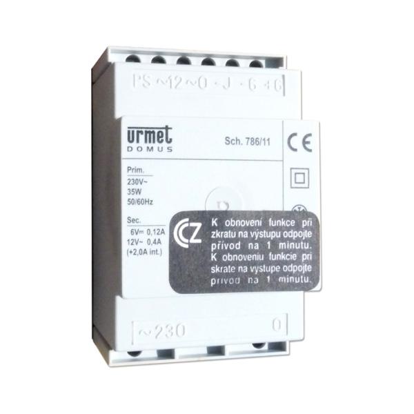 Urmet 786/11 - napájecí a řídicí modul pro analogový zvonkový systém