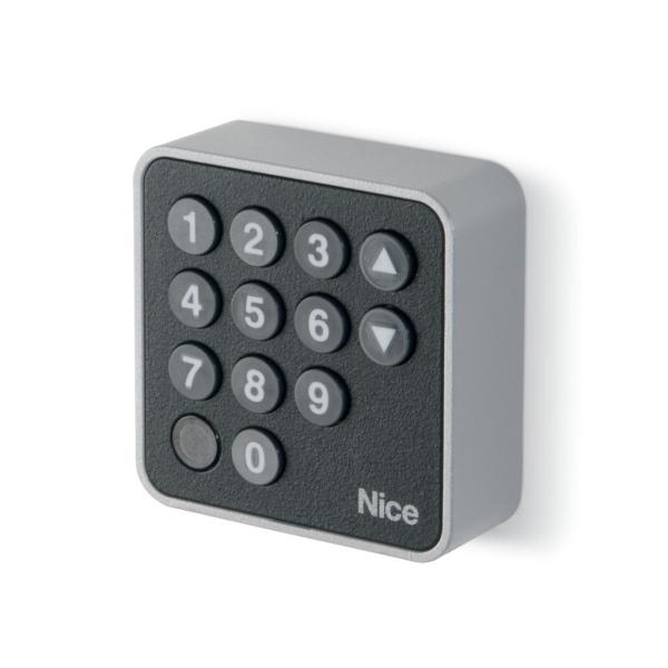 NICE EDSB - osvětlená kódová klávesnice pro pohony bran a vrat, technologie BlueBUS