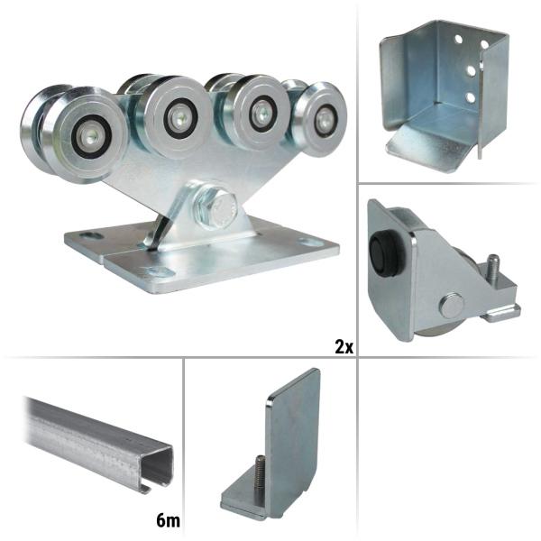 Samonosná posuvná brána do 4,2 m / 450 kg sestava nosných prvků FM-2160KIT, pozinkováno