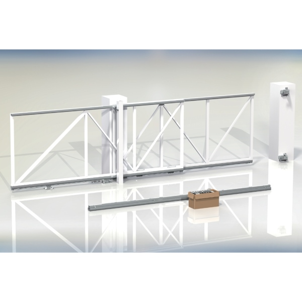 Teleskopický mechanismus FOLLOW-ME-4.25 pro 2-dílné posuvné brány, průjezd do 4,25 m