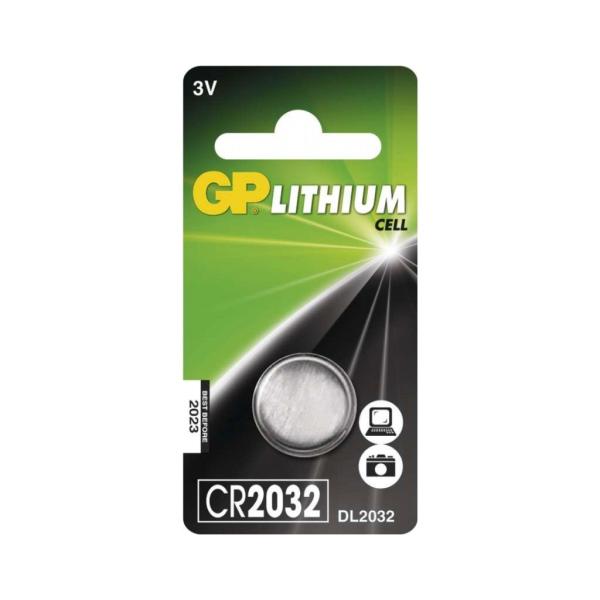 GP CR2032, Knoflíková Li 3V baterie pro dálkový ovladač pohonu brány Marantec a Nice