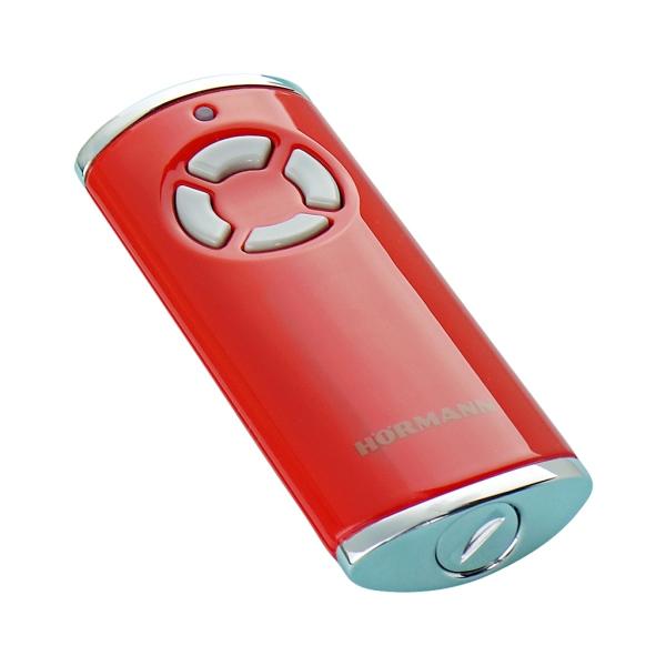 HORMANN HSS 4 BS 436756 - bezpečnostní dálkový ovladač pohonu brány a vrat, 4-kanálový 868 MHz BiSecur, lesklý červený