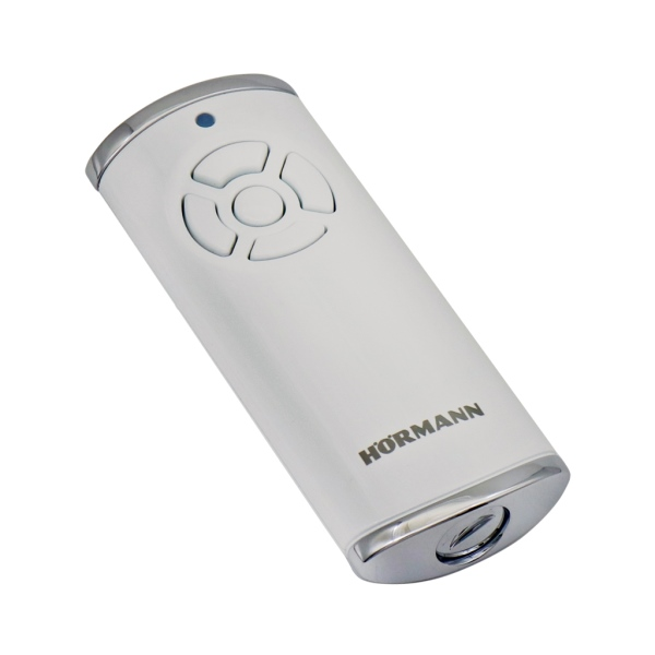 HORMANN HS 5 BS 436766 - dálkový ovladač pohonu brány a vrat, 4-kanálový 868 MHz BiSecur, obousměrný, lesklý bílý