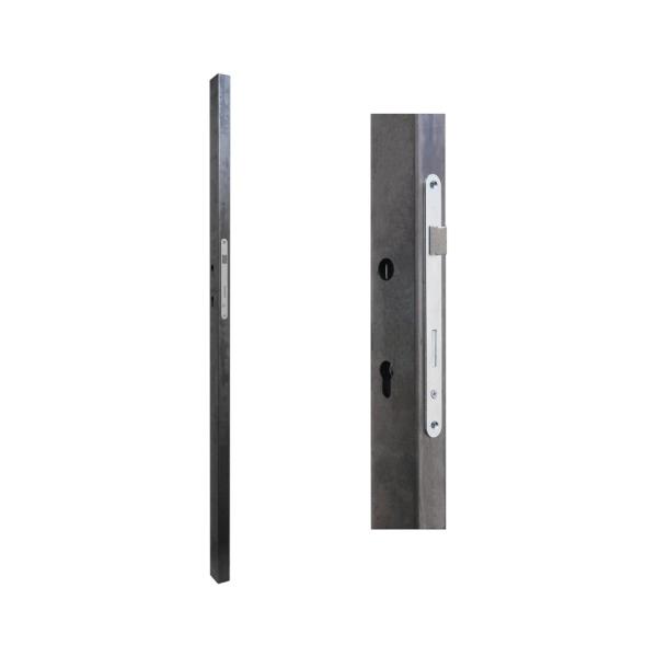 Zámková krabice pro branku a bránu 60x40 x 1500 mm se zadlabacím zámkem rozteč 90 mm