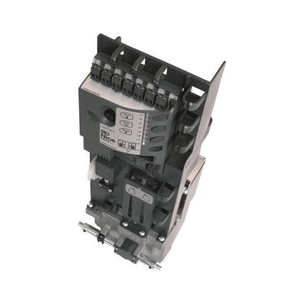 Samostatný pohon posuvné brány NICE NAKED SLIDING-400 do 400 kg a max. šířky průjezdu 6 m, pro skryté umístění ve sloupku