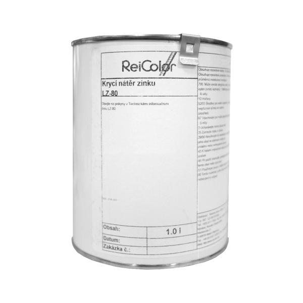 Černá zrnitá barva - kovářský lak Reicolor Rostschwarz LZ-80, 1 litr, na zinek, hliník a tvrzené PVC