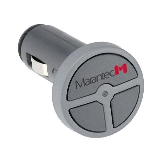 Dálkový ovladač pohonu brány a vrat MARANTEC Digital 323 Micro 3-kanálový 868 MHz, do zapalovače / 12V zásuvky v autě