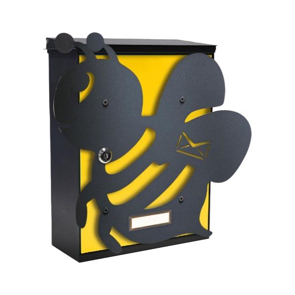 MIA box Bee Y - poštovní schránka s výměnným krytem a jmenovkou, včela