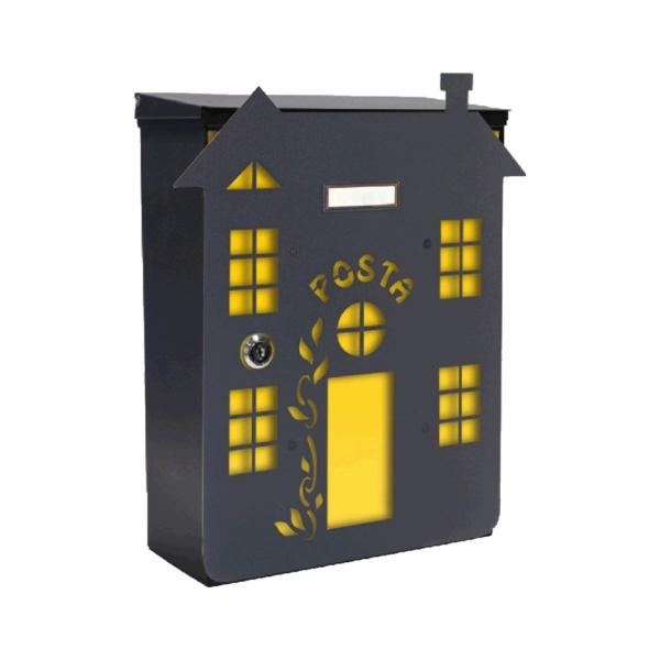 MIA box Climber home Y - poštovní schránka s výměnným krytem a jmenovkou, domek